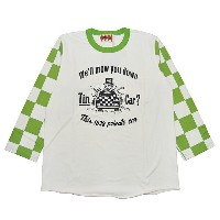 WEIRDO CHECKER - PRIVATE CAR (GREEN) ウィアード セットイン クルー 七分袖 Tシャツ/GLADHAND【送料無料/あす楽対応】【GANGSTERVILLE...