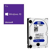Windows 10 Pro 32bit DSP + Western Digital WD20EZRZ-RT [2TB SATA600] バンドルセット