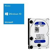 Windows 10 Home 64Bit DSP + Western Digital WD20EZRZ-RT [2TB SATA600] バンドルセット