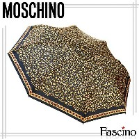 モスキーノ MOSCHINO UMBRELLA MOSCHINO C&C GOLDEN LOGO ALLOVER MIN 折り畳み傘 BLACK ブラック 311black 【代引き不可】/...