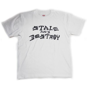 【StaleFink】ステイルフィンク【STALE AND DESTROY S/S TEE】White/Black【Tシャツ】T-shirts【ティーシャツ】