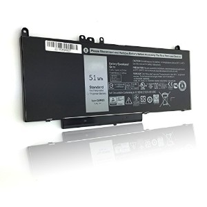 "DJWR 7.4V 51WH New Laptop G5M10 バッテリー for デル Latitude 15-5000 ノート 15.6"" Series:デル Latitude E5450..."
