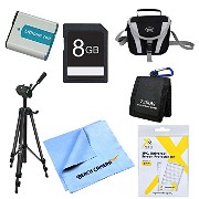 EN-EL5 バッテリー キット 8GB SD Card, Card Carry ケース, LCD スクリーン プロテクター Deluxe Carrying ケース Micro ファイ...