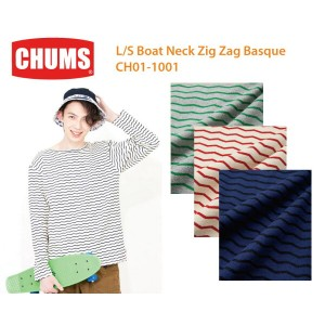 【CHUMS チャムス】CH01-1001<L/S Boat Neck Zig Zag Basque長袖ボートネックジグザグバスク>※取り寄せ品