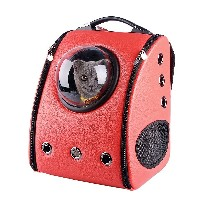 U-pet Innovative Patent Bubble Red Pet Carriers Backpack