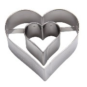 Birkmann バークマン Cookie cutter ハート Heart with extra heart on the inside 122161 クッキー型 並行輸入品