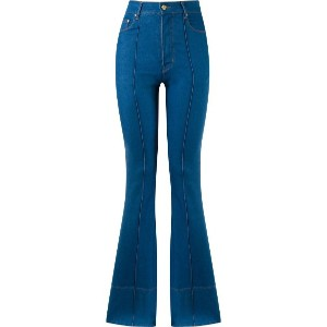 Amapô - high waist flared jeans - women - コットン/スパンデックス - 36