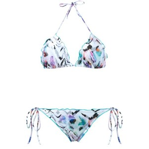 Brigitte - zebra print triangle bikini set - women - ポリアミド/スパンデックス - M