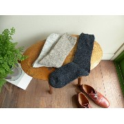 evam eva(エヴァムエヴァ) wool cashmere moss stitch socks(E163Z113)