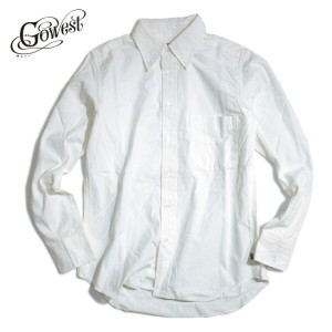 GOWEST(ゴーウエスト / go west)SLIM FIT BD SHIRTS / SALLOR CLOTH SELVEDGE【送料無料】 / シャツ