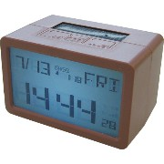 HOUSE USE PRODUCTS(ハウスユーズプロダクツ) LCD表示 置き時計 HYBRID CLOCK FRISCO BROWN ACL074 [正規代理店品]