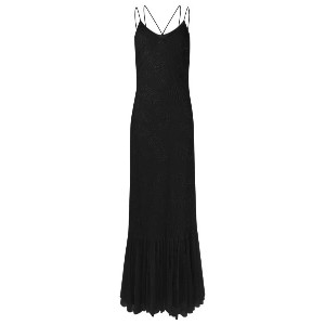 Emannuelle Junqueira - round neck long party dress - women - ポリアミド/ビスコース - 42