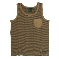 A HOPE HEMP Stripe Pocket Tank Top (Earth)(アホープヘンプ)