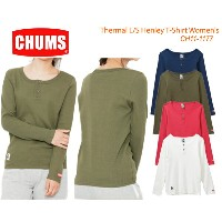 CHUMS チャムス CH11-1177<Thermal L/S Henley T-Shirt Women'shirt 長袖サーマルヘンリーTシャツ >※取り寄せ品