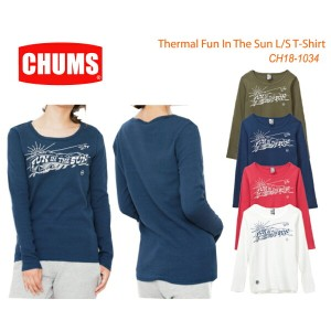 CHUMS チャムス CH18-1034<Thermal Fun In The Sun L/S T-Shirt 長袖サーマルファンインザサンTシャツ>※取り寄せ品