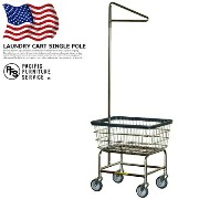 LAUNDRY CART SINGLE POLE(ランドリーカートシングルポール) RB1091CH PACIFIC FURNITURE SERVICE(パシフィックファニチャー...