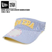 NEWERA ニューエラ キャップ 【GOLF】 WOMEN'S SEERSUCKER COOLMAX SUN VISOR ブルー 11225627【帽子】