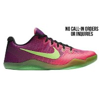 (取寄)ナイキ メンズ コービー 11 ロー Nike Men's Kobe 11 Low Pink Flash Action Green Red Plum