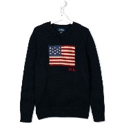 Ralph Lauren Kids US flag intarsia jumper