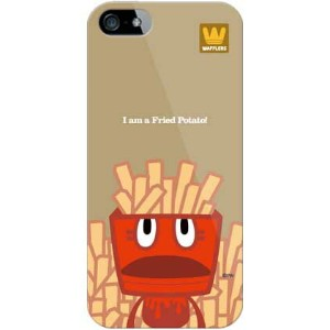 【送料無料】 fried potato (クリア) design by PansonWorks / for iPhone SE/5s/SoftBank 【SECOND SKIN】iPhone5sカバー...