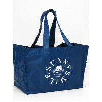 ♪Happy Haleiwa♪ハッピーハレイワ♪【レジバッグ】ショッピングバッグ・エコバッグSunny Smile Eco Bag Navy 収納袋付...