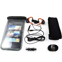 Universal Waterproof Case,IPX8 Cell Phone Dry Bag for Mobile With Waterproof Underwater Headphone+Belt +Lanyard,Applies to Under 5 inch Mobile Phone,for...