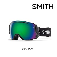 2017 SMITH スミス ゴーグル GOGGLE I/O7 BLACK/GREEN SOL-X MIRROR+RED SENSOR MIRROR