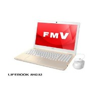 FMVA42A3G【税込】 富士通 15.6型ノートパソコン FMV LIFEBOOK AH42/A3 シャンパンゴールド (Office Home&Business Premium 付属) [FMVA42A3G]【返品種別A】【送料無料】【RCP】