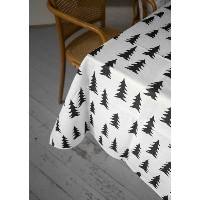 FINE LITTLE DAY | GRAN TABLECLOTH - BLACK (half linen) | テーブルクロス