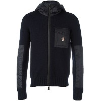 Moncler Grenoble コントラストパネル ニットパーカー
