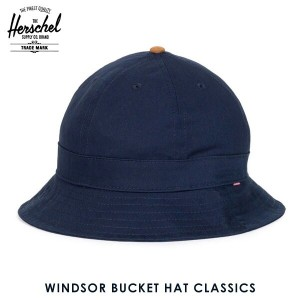 ハーシェル サプライ Herschel Supply 正規販売店 帽子 ハット WINDSOR BUCKET HAT CLASSICS 1029-0263 NAVY/CRRAMEL SUEDE