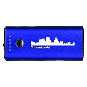 Minneapolis, Minnesota-Portable Cell Phone 5200 mAh Power Bank Charger-ブルー 「汎用品」(海外取寄せ品)