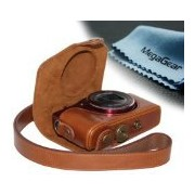 """MegaGear """"Ever Ready"""" プロテクティブ レザー Camera ケース, Bag for Canon PowerShot SX700 HS, Canon PowerShot..."""