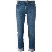 7 For All Mankind クロップドストレートジーンズ