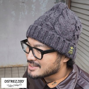 DSTREZZED ディストレス Cable Beanie Heavy Cable Mei DS601036-62 ニット帽 メンズ ニットキャップ ケーブルニット ケーブル編み 帽子 ニット...