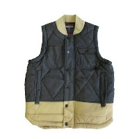 【STAPLE】HUNTER QUILTED VEST [BLACK-BEIGE] / ステイプル
