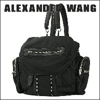 アレキサンダーワン リュックサック ALEXANDER WANG 20B0093 001 バッグ MARTI IN BLACK LEATHER AND NYLON WITH RHODIUM...