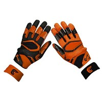 カッターズ メンズ アメフト グローブ 手袋【Cutters Rev Pro 2.0 Ying Yang Receiver Gloves】Orange/Black