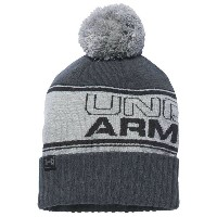 アンダーアーマー メンズ 帽子 ニット【Under Armour Retro Pom Beanie】True Grey Heather/Stealth Grey/Black