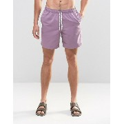 ASOS エイソス Swim Shorts ショーツ In Purple With Drawcord Detail In Mid Length
