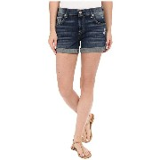 7 For All Mankind Relaxed Mid Roll Up Shorts ショーツ with Distress in Crete Island