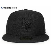 NEW ERA NEW YORK METS 【BLACKOUT】 ニューエラ ニューヨーク メッツ 59FIFTY フィッテッド キャップ FITTED CAP [帽子 ヘッドギア キャップ...
