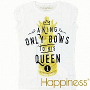 Happiness ハピネス 2016年春夏新作 ハピネス レディース 半袖 Tシャツ <A KING ONLY BOWS TO HIS QUEEN>