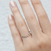 CURVED SNOW QUEEN RING, WHITE GOLD Catbird(キャットバード) バイマ BUYMA