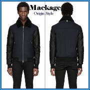 【海外セレブ人気】Mackage★CEZAR LEATHER-SLEEVED DOWN BOMBER Mackage(マッカージュ) バイマ BUYMA