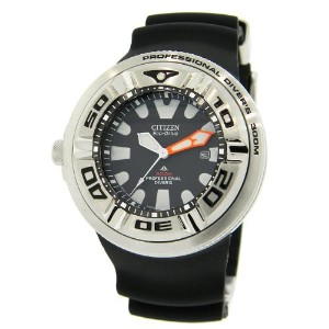 CITIZEN[シチズン] MODEL NO.bj8050-08e Men's ECO-DRIVE WR300 Professional Diver Black Rubber Strap Watch...