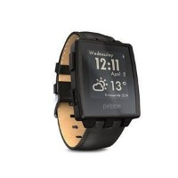 腕時計 Pebble Steel Smart Watch for iPhone and Android Devices (Black Matte)【並行輸入品】