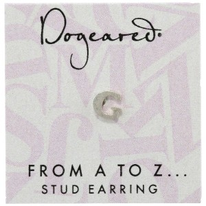 [ドギャード] DOGEARED from a to z earring, SS, little G V3SSZ00210604