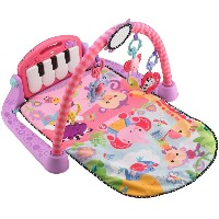 Fisher-Price フィッシャープライス Kick and Play Piano Gym キックして遊ぶピアノ ベビージム (ピンク) 【並行輸入品】