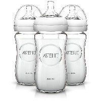 Philips AVENT Natural Glass Bottle, 8 Ounce (Pack of 3) by Philips AVENT [並行輸入品]